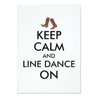 Line Dancing Gift Keep Calm Dancer Cowboy Boots Card