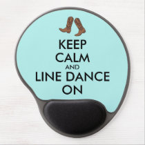 Line Dancing Gift Keep Calm Dancer Cowboy Boots Gel Mouse Pad