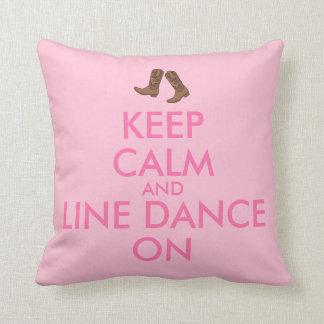 Line Dancing Gift Keep Calm Dancer Cowboy Boots Throw Pillow