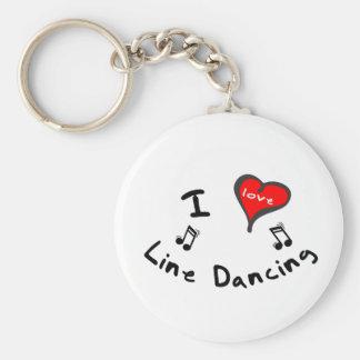 Line Dancing Gifts - I Heart Line Dancing Keychain