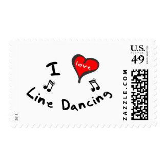 Line Dancing Gifts - I Heart Line Dancing Postage