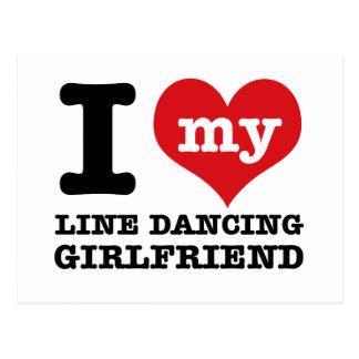 line dancing Girlfriend designs Postcard