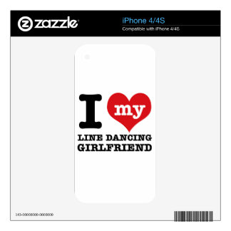 line dancing Girlfriend designs Decals For The iPhone 4