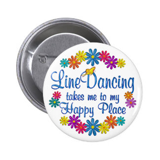 Line Dancing Happy Place 2 Inch Round Button