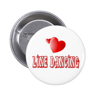 Line Dancing Hearts 2 Inch Round Button