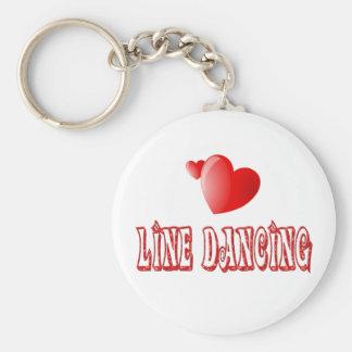 Line Dancing Hearts Keychain