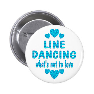 LINE DANCING LOVE 2 INCH ROUND BUTTON