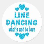 LINE DANCING LOVE CLASSIC ROUND STICKER