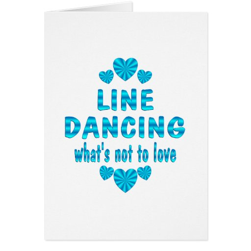 LINE DANCING LOVE GREETING CARD