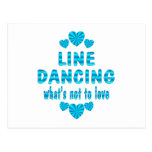 LINE DANCING LOVE POSTCARD