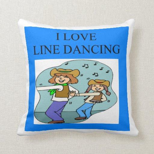 line dancing pillows