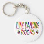 Line Dancing Rocks Basic Round Button Keychain
