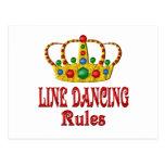 LINE DANCING RULES POSTCARD