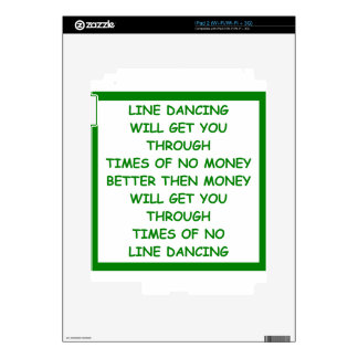 line dancing decal for iPad 2
