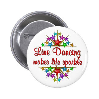 Line Dancing Sparkles 2 Inch Round Button
