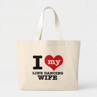 Line dancing Wife Tote Bag
