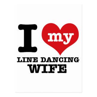 Line dancing Wife Postcard