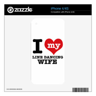 Line dancing Wife iPhone 4 Decals
