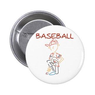 Line Drawing Baseball Pins
