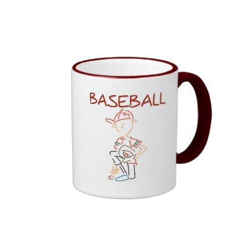 Line Drawing Baseball Coffee Mug