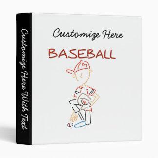 Line Drawing Baseball T-shirts and Gifts 3 Ring Binder