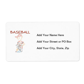 Line Drawing Baseball T-shirts and Gifts Label