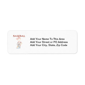 Line Drawing Baseball T-shirts and Gifts Return Address Label
