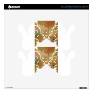 Line Drawing Octopus in Brown PS3 Controller Skins