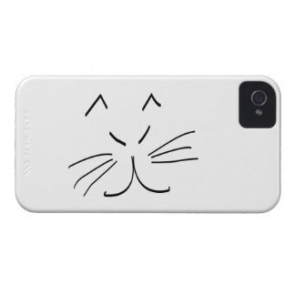 Line Drawing of a Cat iPhone 4 Cover