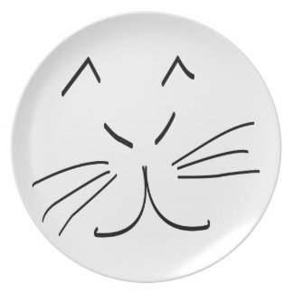 Line Drawing of a Cat Party Plates