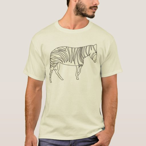 Line Drawing of a Zebra shirt