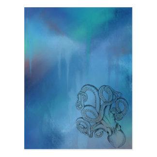 Line Drawing Realism Octopus Postcard
