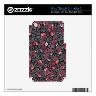 line flower iPod touch 4G skins