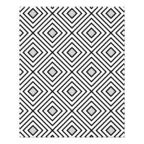 Line geometric Pattern black white 02 Flyer