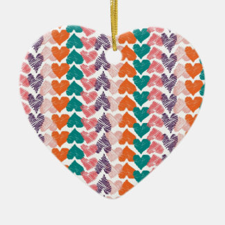 Line Heart Ceramic Ornament