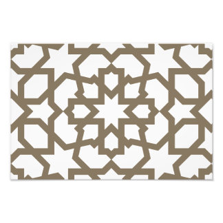 Line in gold of the mosaic landlord of Morocco Photo