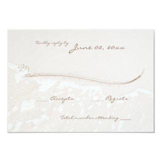 Line in Sand Beach Wedding Response Card