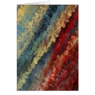 """""""Line in Time"""" Abstract Art Note Card"""