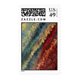 """Line in Time"" Abstract Art Postage Stamp"