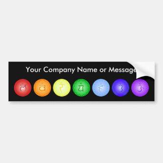Line of 7 Chakras Bumper Sticker