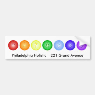 Line of 7 Chakras Bumper Sticker