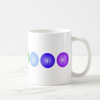 Line of 7 Chakras Classic White Coffee Mug