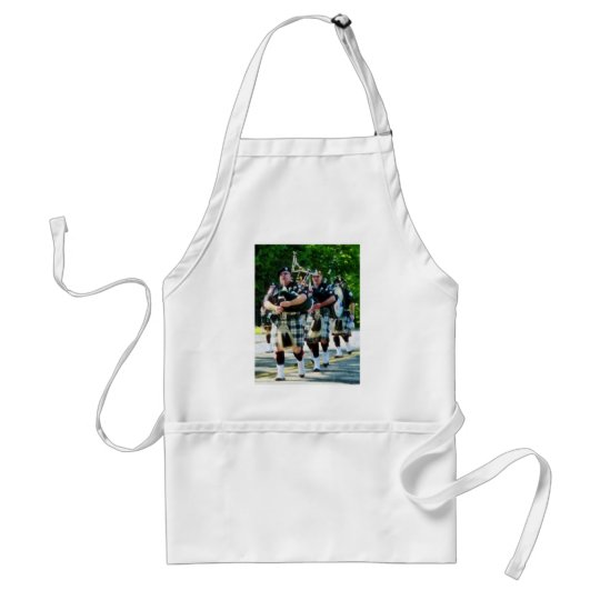 Line of Bagpipers Adult Apron