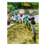 Line of Bicycles in Park Print