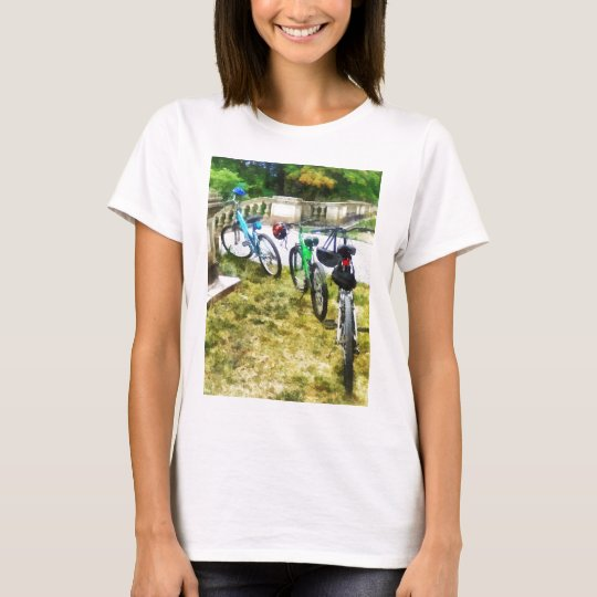 Line of Bicycles in Park T-Shirt