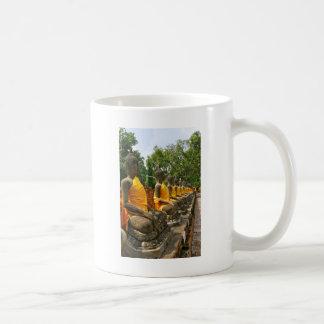 Line of Buddhas Coffee Mug