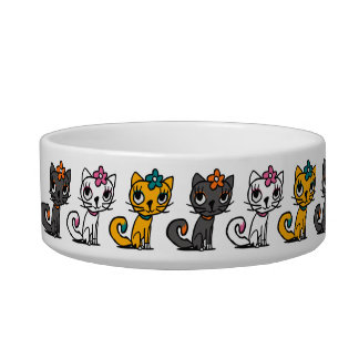 Line of Cats Pet Bowl