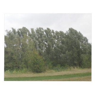 Line of Leaning Trees Landscape Notepad