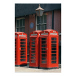 Line of London Red Telephone Boxes Poster Print