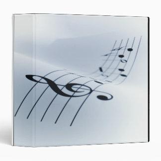 Line of Music 3 Ring Binder